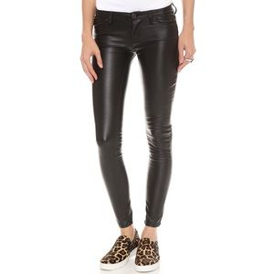 Blank NYC Black Faux Leather Mid-Rise Pants